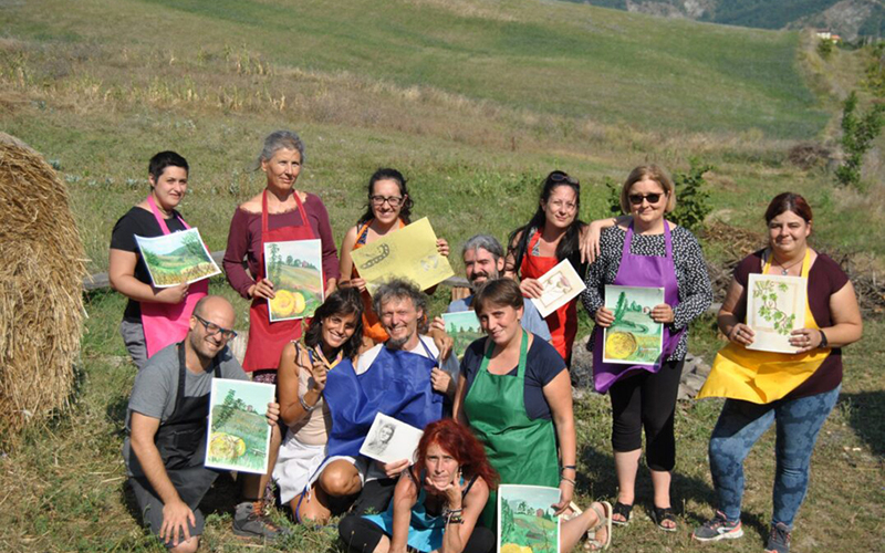 Painting experience in the vineyards