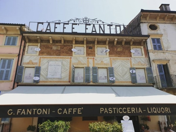 Historical Cafe Fantoni in Villafranca