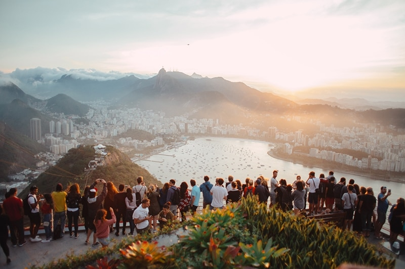 tourists in rio